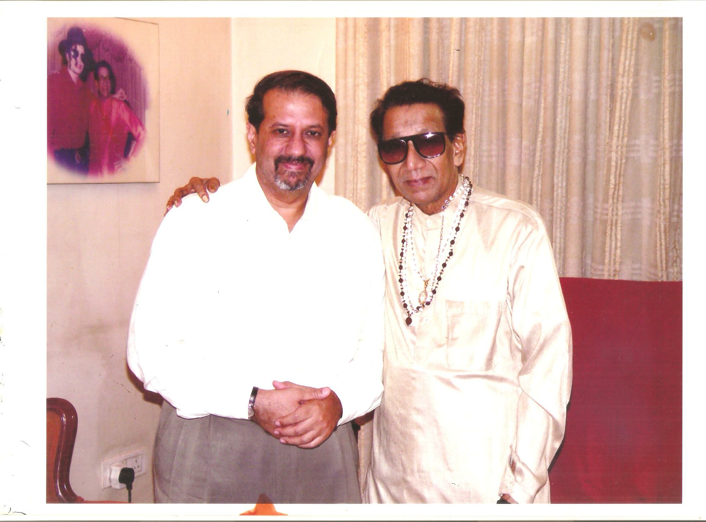 Vickram Sethi and Balasaheb at Matoshri