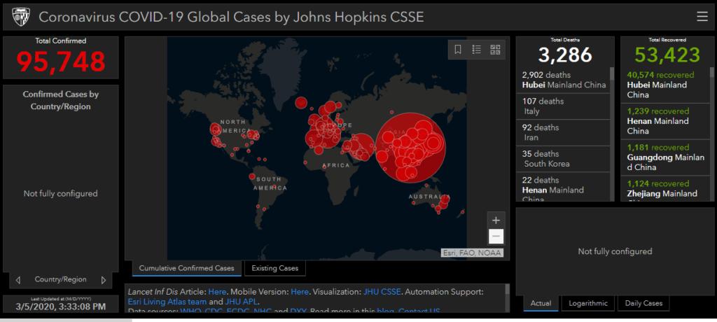 coronavirus global tracker - Seniors Today