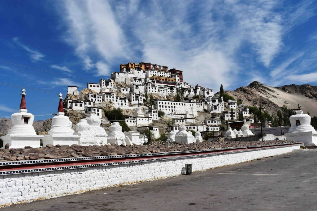 Thiksey is one of the two biggest monasteries in Ladakh