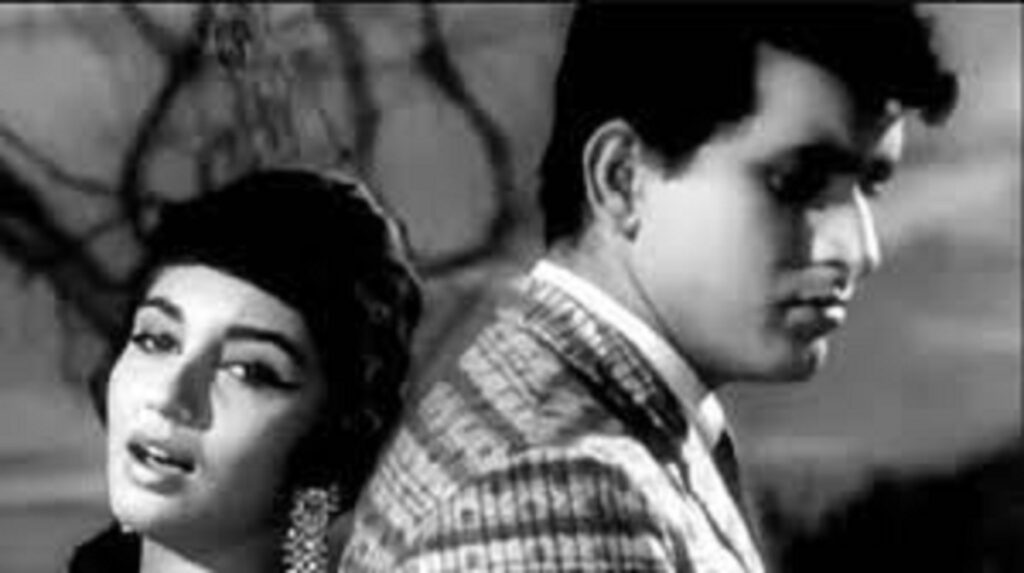 Manoj Kumar with Sadhana in Woh Kaun Thi, in a still from the iconic song Lag ja gale