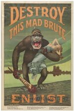 Young men were enthused to enlist through propaganda posters and fairs