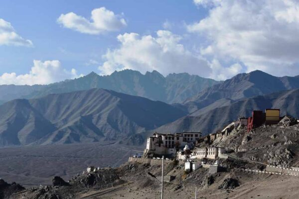 The Spitok Gonpa, which you can see while landing into Leh image