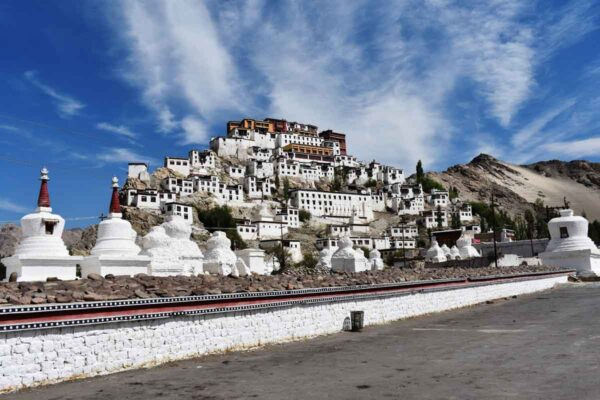 Thiksey is one of the two biggest monasteries in Ladakh image