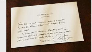 Letter from White House to Ranjana Martinez
