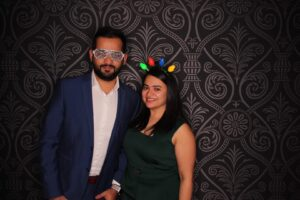 Sam and Neha at a New Year Party