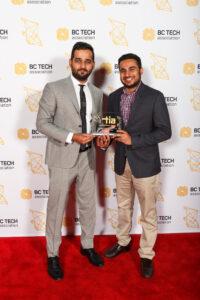 TIA Award Sam with partner Rohit Boolchandani