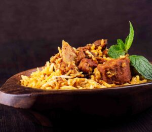 Mutton biryani without the mighty potato is just not done