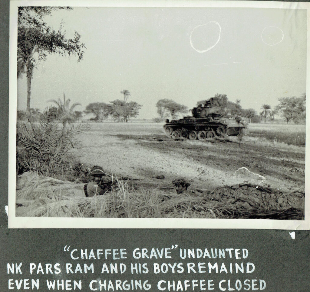 The men of 14 Punjab were undaunted even when a charging Chaffee closed in at 25 yards scaled
