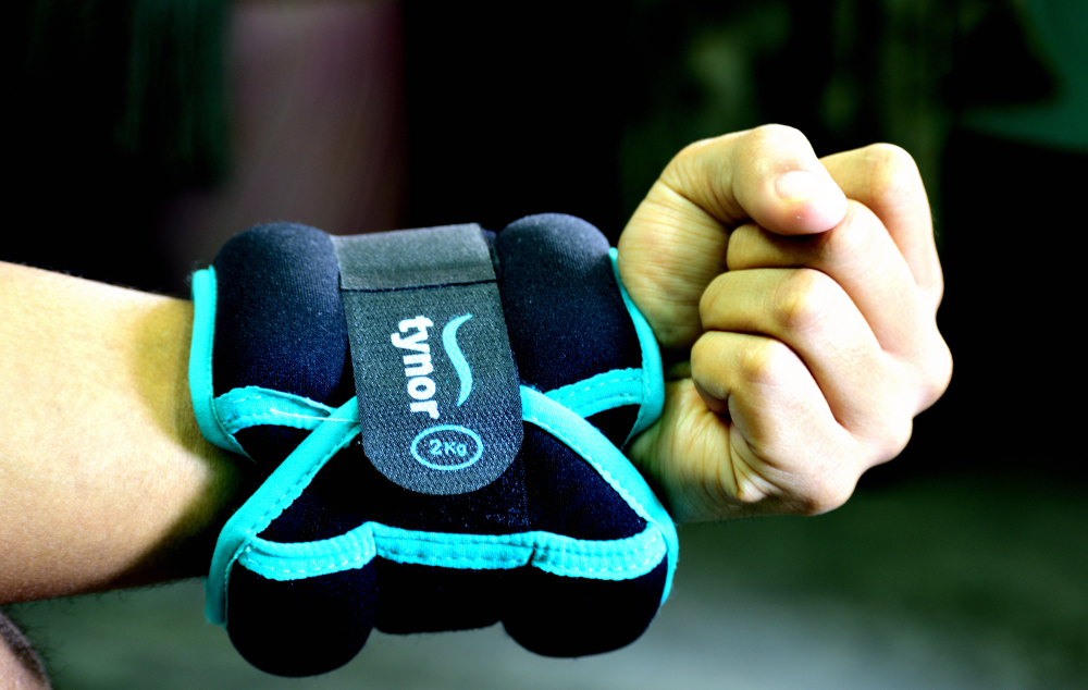 You can use a weight cuff to help with muscle strengthening exercises, in consultation with your physiotherapist or trainer
