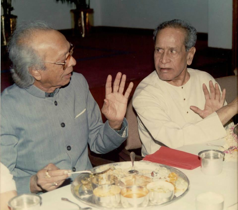 Naushad with Bhimsen Joshi shown to user