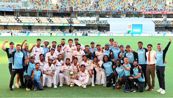 India wins against Australia. Pic courtesy BCCI.TV