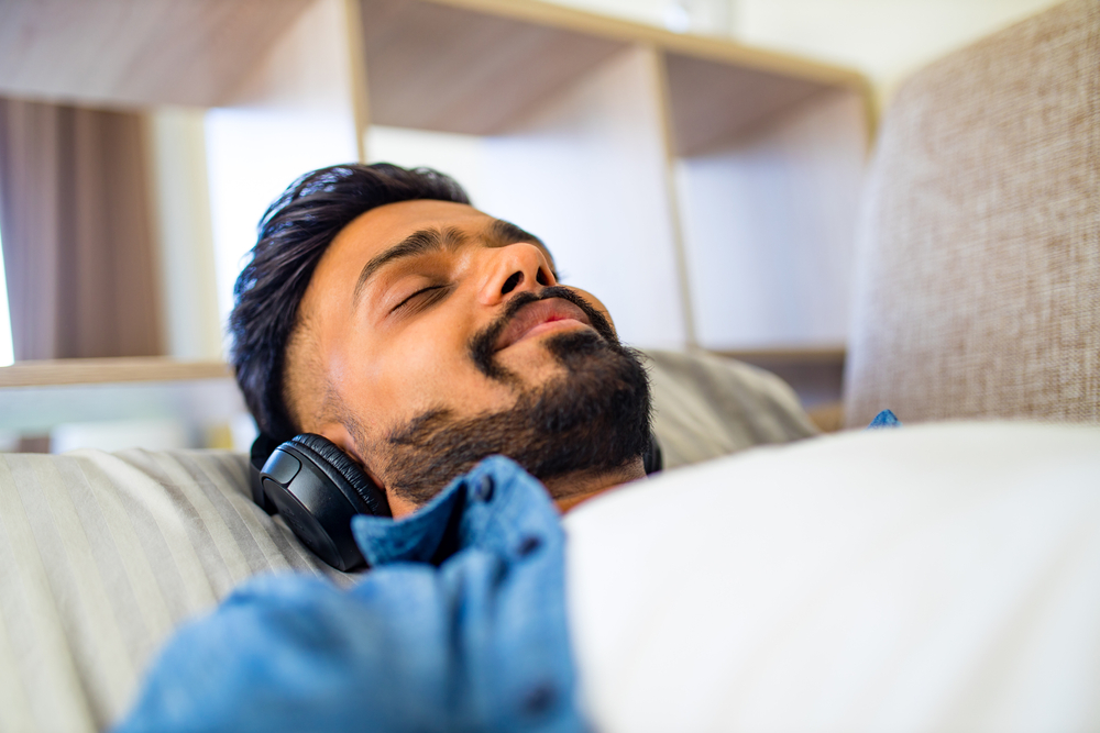 Music can help bring about a sense of calmness and relaxation