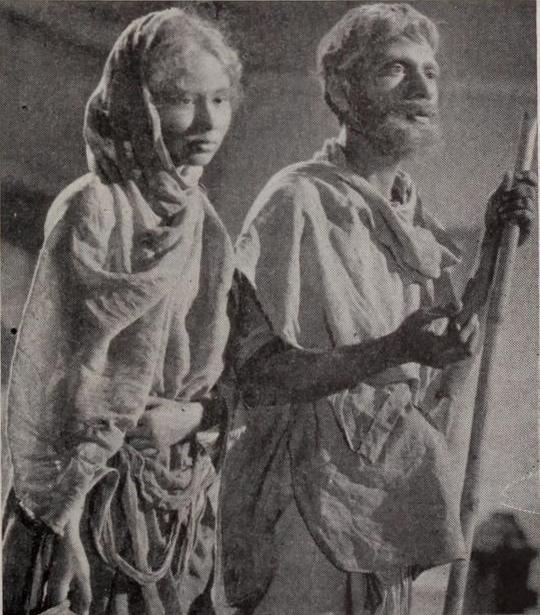 Usha Dutt and Sombhu Mitra in Dharti Ke Lal