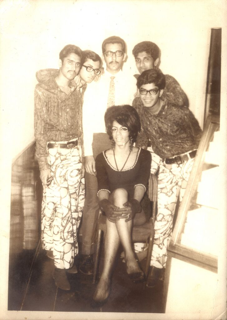 From left, Bashir Sheikh, drums; Hemant Rao, lead guitar; Firdaus Enayati, manager; Ralph Pais, bass and Prabhakar Mundkur, keyboards and guitar