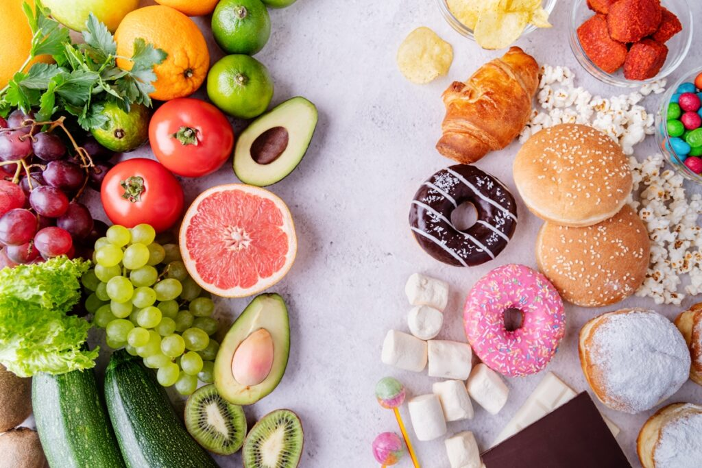 In place of sugary foods, have a nutritionally balanced diet with fruit and vegetables, as well as cereals