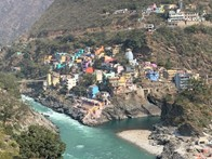 View of the Ganga Devaprayaga where Alaknanda and Bhagirathi join to flow as Ganga