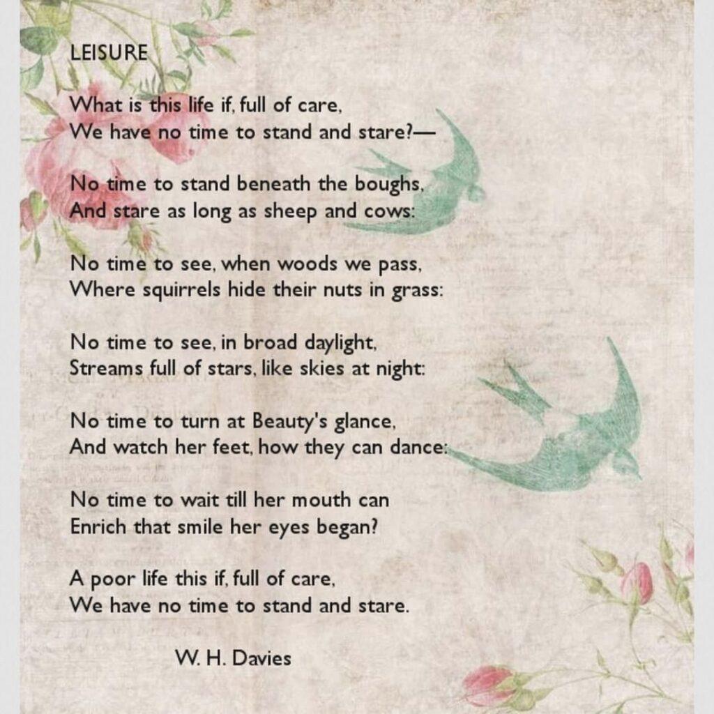 wh davies- leisure
