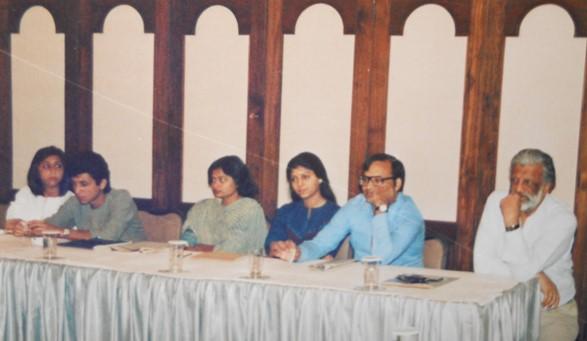 Bal at an Ulka workshop at Fariyas Hotel, Lonavala in 1986. Photo courtesy Shalini Kagal
