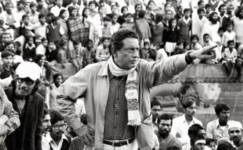 Nemai Ghosh Satyajit Ray image during a shoot