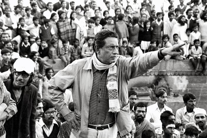 Nemai Ghosh Satyajit Ray image during a shoot