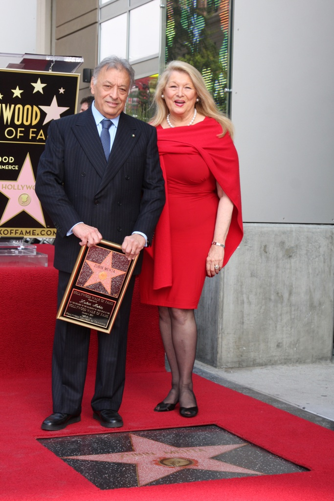 Zubin Mehta and his wife Nancy at the Hollywood Walk of Fame Star ceremony
