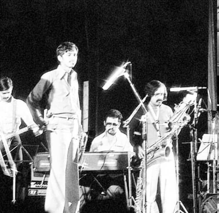 From left, Peter Saldanha, Bosco Monsorate, Louiz Banks and Braz Gonsalves