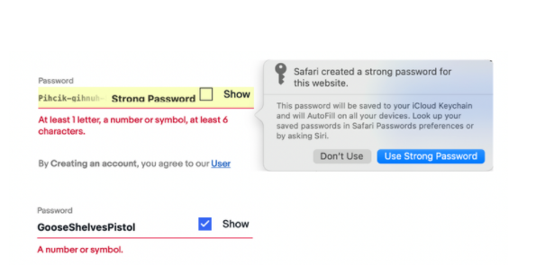 Many websites don't allow generated passwords.Steven Furnell