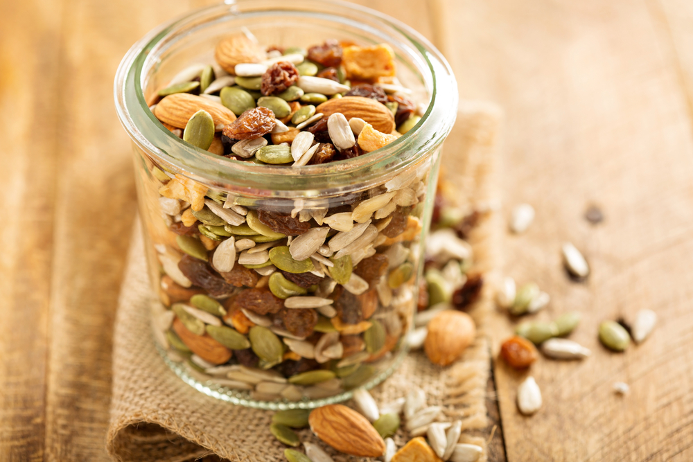 21 Swap everyday desserts for your own home - made trail mix - Seniors Today