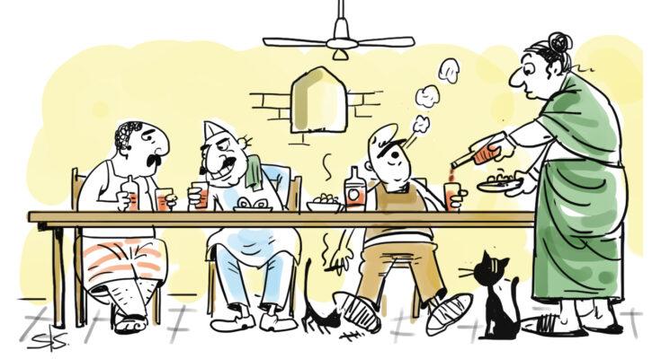Aunty's Bar Dekho Main Image - Credit Sudhir Shetty