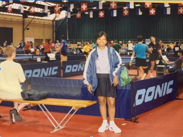 At world veterans Table Tennis Championship, Luzern, Switzerland.