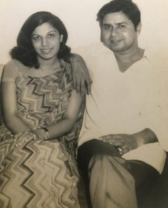 Drs Rita and William Bhatnagar in their young days