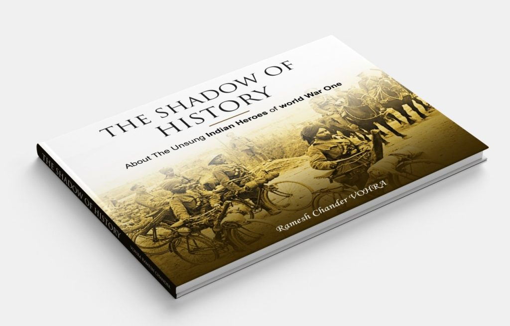 The coffee table book authored by Ramesh Vohra as dedication to the Indian armed forces heroes of the First World War in Europe